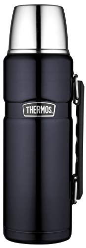 Thermos Stainless King, Termo de acero inoxidable con manija, 1,2 litros, Azul (Midnight Blue)