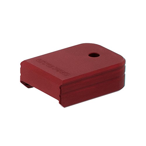 Base Plate Aluminum (UTG Pro Plus 0 Base Pad, Glock Small Frame, Matte Red Aluminum)
