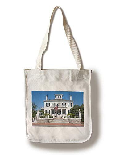 Lantern Press Augusta, Maine - Governors Mansion - Photography A-92582 (100% Cotton Tote Bag - - Lantern Outdoor Augusta