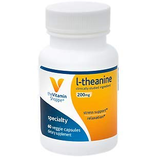 The Vitamin Shoppe LTheanine 200MG, Clinically Studied Ingredient, Supports Relaxation Stress (60 Capsules)
