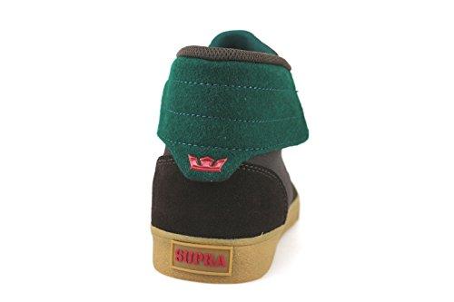 zapatos hombre SUPRA sneakers marrón verde cuero de ante AH61