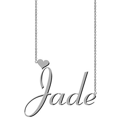 (ZAloha Personalized Unique Monogramed Necklace Jade)