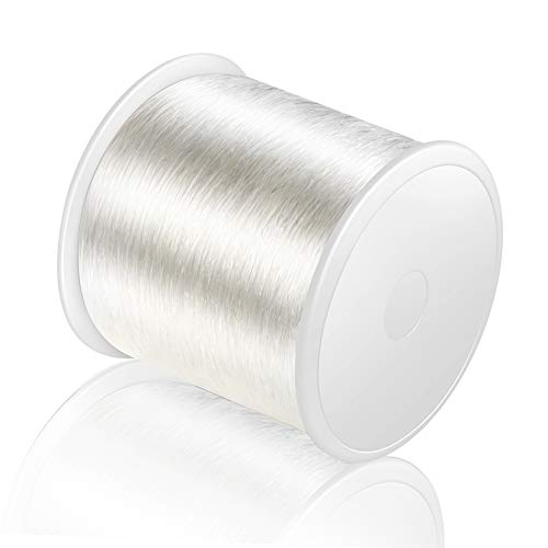 320 FT Jewelry Cord, Elastic Bracelet Rope Crystal Beading Cords, Transparent and Shiny Elastic Beaded Line, Can Easily Pass Through Beaded Jewelry, Suitable for DIY Jewelry Making, Bracelet Making