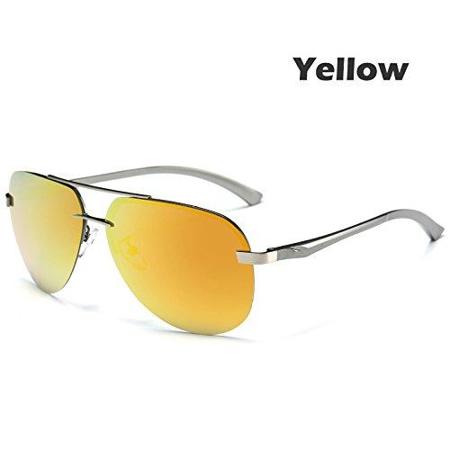del la hombres gafas 100 Gun la estilo de Yellow guía de piloto TIANLIANG04 metal UV400 macho polarizadas Gafas aleación anteojos verde Gafas sol de W1AawqPaI8