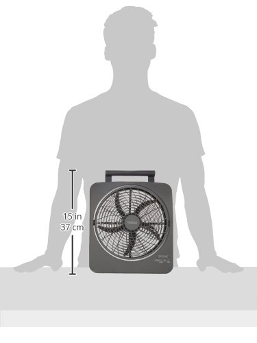 O2COOL 10-Inch Portable Smart Power Fan with AC Adapter & USB Charging Port, 8-D Battery Fan, Cell Phone Charging Fan, 10-Inch Compact Portable Battery Fan, Smart Power, Pivoting Fan Head by O2COOL (Image #5)