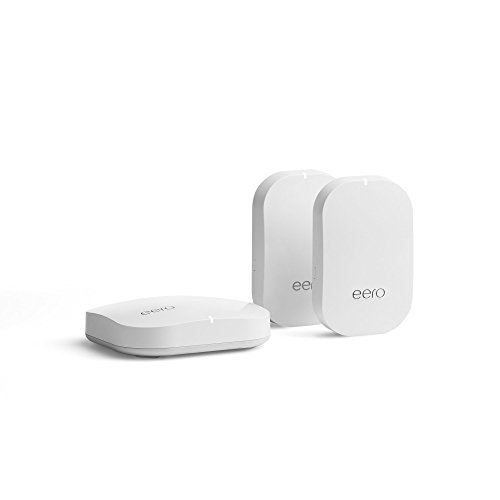 eero Home WiFi System (1 eero Pro + 2 eero Beacons) - Advanced Tri-Band Mesh WiFi System to Replace Traditional Routers and WiFi Ranger Extenders - Coverage: 2 to 4 Bedroom Home (Best Home Wifi Booster)