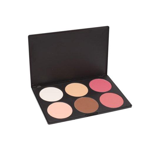 6 couleurs de maquillage cosmétiques fard à joues Blush
