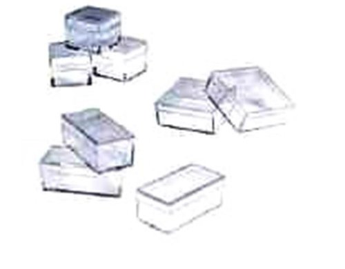 Plastic Boxes Square 2 X 2 X 3/4 Box Of 100 by Grobet