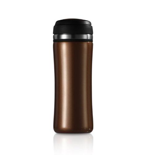 (Timolino VMT-35TTMBW 12-Ounce TeaGo Vacuum Mug, Amber Brown)