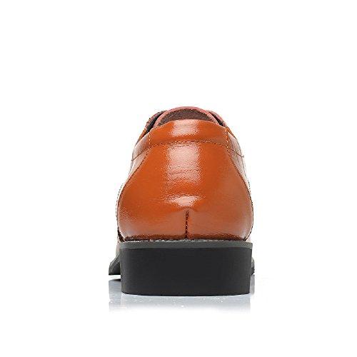 Marrone Vintage Verniciata Basse Pelle Scarpe Sera Derby Stringate Nero Elegante 38 Uomo Oxford Brogue Giallo Blu Rosso 48EU x7xpz