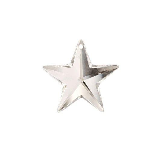 Swarovski crystal 28mm Clear Faceted Star Prism Amazing Clarity & Shine (Chandelier Stars Crystals Swarovski)