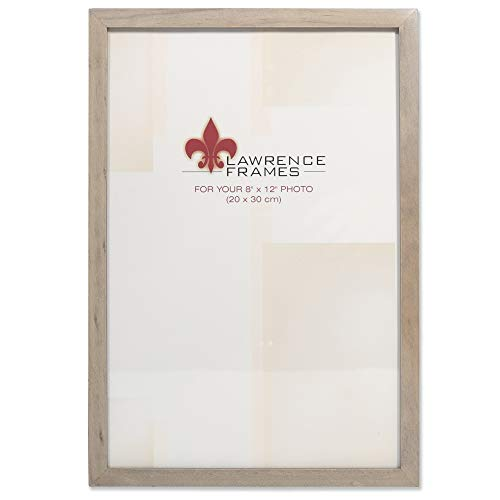 Lawrence Frames 8x12 Gray Wood Gallery Collection Picture Frame (8 X Photo 12 Frame)