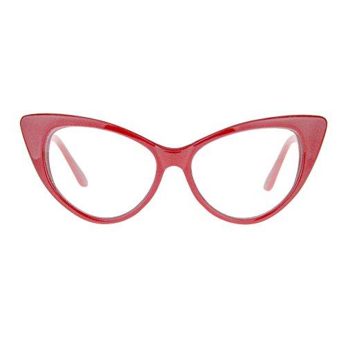 Womens Goth Mod Chic Classic Retro Cat Eye Optical Glasses - Glasses Goth