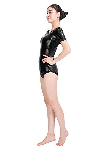 720b84bc8 Amazon.com  Womens Leotard Bodysuit Shiny Metallic Dancewear Ballet ...