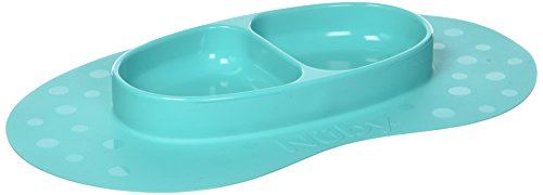 Nuby Sure Grip 100% Silicone Section Plate, Aqua