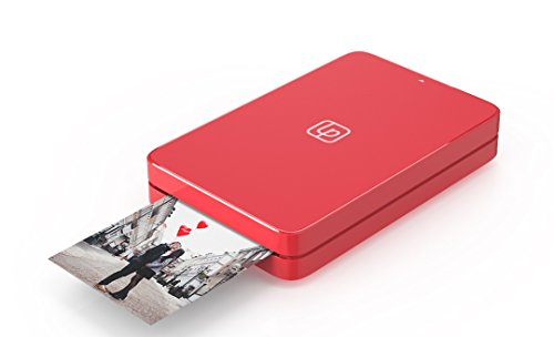 Lifeprint 2x3 Portable Photo AND Video Printer for iPhone and Android. Make Your Photos Come To Life w/ Augmented Reality - Red