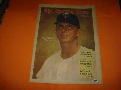 Billy Martin Certed Signed Full 1969 Sporting News Autograph - JSA Certified - MLB Autographed Miscellaneous Items