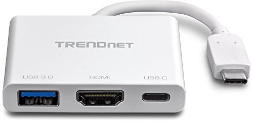 TRENDnet USB-C to HDMI with Power Delivery and USB 3.0 Port, 4K UHD Resolution, Flexible Connector, Easy Set-Up, Compact Design, TUC-HDMI3 by TRENDnet (Image #2)