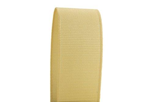Ribbon Bazaar Solid Grosgrain Ribbon 3 inch Beige by The Yard 100% Polyester from Ribbon Bazaar