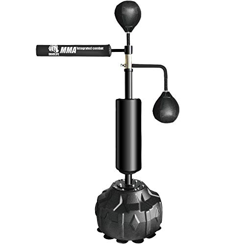 INNOLIFE MMA Boxing Speed Trainer Punching Spinning Bar with Dual Punch Head
