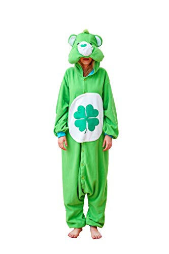 Flora Huxley Women Adult Onesies Cosplay Pajamas One Piece Animal Green Bear Costumes XL ()