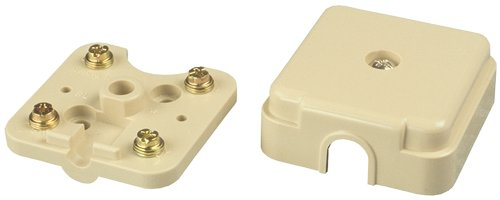 Allen Tel Products AT42A4 Connecting Block, 4 Terminal, 1 Port, Mounting Screw, Ivory