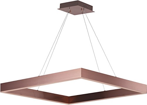 (ET2 E24297-SC Metallika LED Single Pendant, Satin Copper Finish, Glass, PCB LED Bulb, 60W Max., Wet Safety Rated, 3000K Color Temp., Shade Material, 820 Rated)