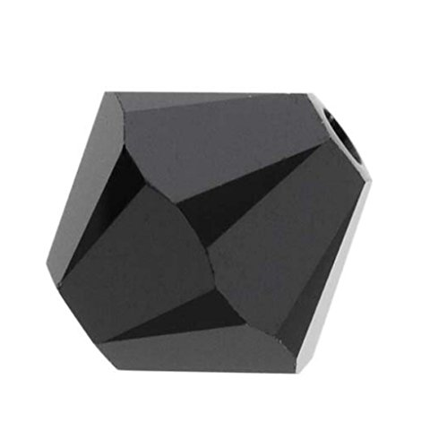 100pcs Genuine Preciosa Bicone Crystal Beads 4mm Jet Black Alternatives For Swarovski #5301/5328 #preb423 (Crystal Jet Black Beads)