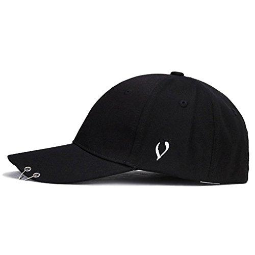 Kokkn Baseball Cap K-pop Boys Outdoor Iron Ring Snapback Hat Casual  Adjustable Dad Hat 10ab8ece3753