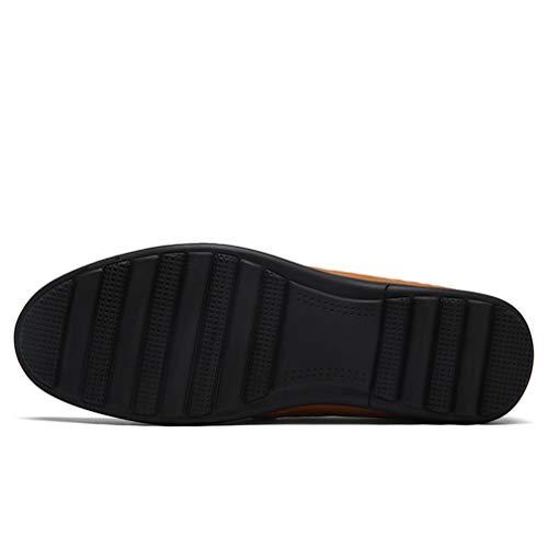 Fiesta Hombres Casual Segundo con y Plataforma Zapatos Oficina Aire Cuero Verano Noche Libre Barco Cordones 2018 para al Zapatos Mocasines YAN qOxXtX