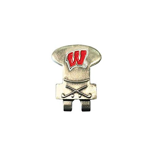 NCAA Wisconsin Badgers Unisex Wisconsinhat Clip, Silver, N/A Wisconsin Badgers Hat Clip