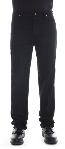 Hugger Fit Denim - Wrangler Men's Cowboy Cut Slim Fit Jean, Shadow Black, 36x32
