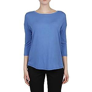 Majestic Fashion Filatures Womens E19J002FTS144309 Blue Jumper | Season Outlet