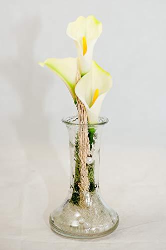 Weisse Calla Ihre Vase Tischgesteck Tischdeko Mit Kunstlichen Blumen