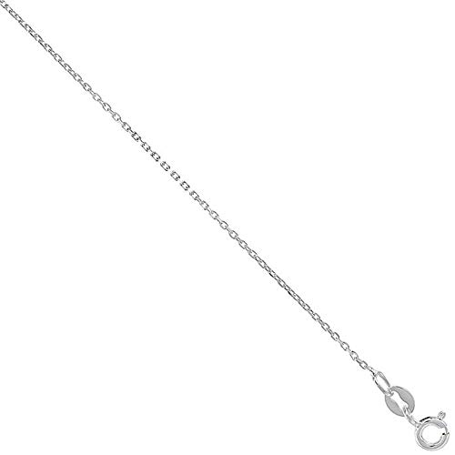 - Sophie Land 5 PIC in One Pack of Sterling Silver fine Boston Link Chain Necklace 1mm Very Thin Nickel Free Sizes 16/18 /20/22 /24 inch