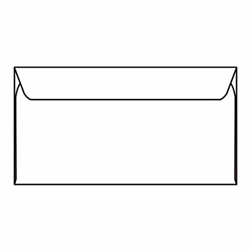 Slim-Jim Machine Insertable Open Side Booklet Envelopes, 6 x 10-1/2, 24#, White (Box of 1000) 6 x 10-1/2 Western States