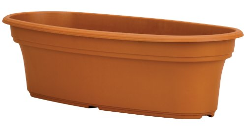 Akro Mils PAP1200E22 Panterra Oval Planter, Clay Color, 12-Inch Length