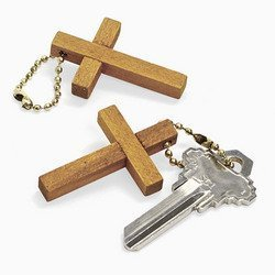 wooden cross key chains 12 Packs of 12  (144 total)