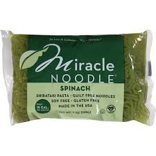 Miracle Noodle Ziti, Spinach and Spaghetti [6 Pack] by Miracle Noodle