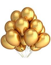 عبوة من 50 بالونة هيليوم بجودة ممتازة مناسب للحفلات - مقاس 10 بوصة (10 ار) - لون ذهبي معدني