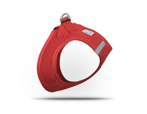 CURLI Brustgeschirr Plush Vest AIR-MESH red für Hunde M (41 - 45 cm)
