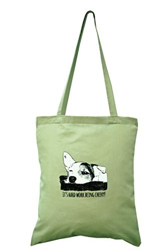Jack russell 'Hard work being Cheeky! cotton bag