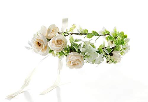 FIDDY898 Floral Crown Green Headpiece Bridal Accessories Wedding Crown (C-Headpiece)