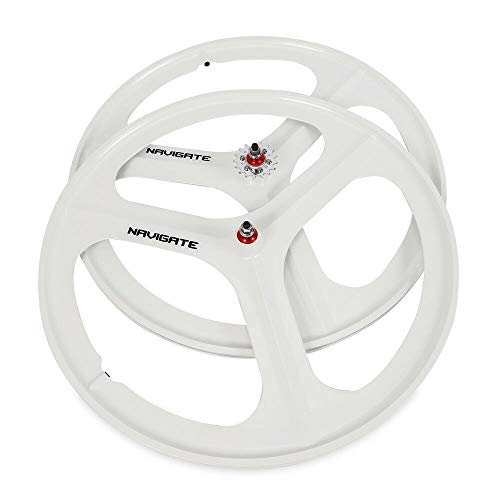 - ONEPACK Fixed Gear 700c Rim Front Rear Single Speed Fixie Bicycle Wheel - White