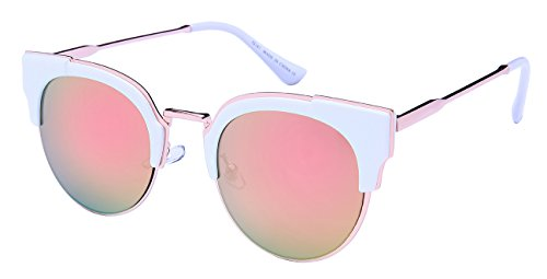 Edge I-Wear Womens Cat Eye Sunglasses w/Color Mirror Lens - Sunglasses W Eye