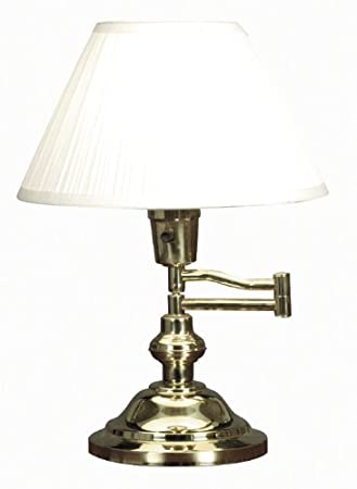 Kenroy Home 30163 Classic Swing Arm Desk Lamp Polished Brass