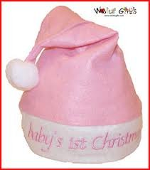 Image Unavailable. Image not available for. Colour  Pink Baby s First  Christmas Santa Hat 6533ebd6398