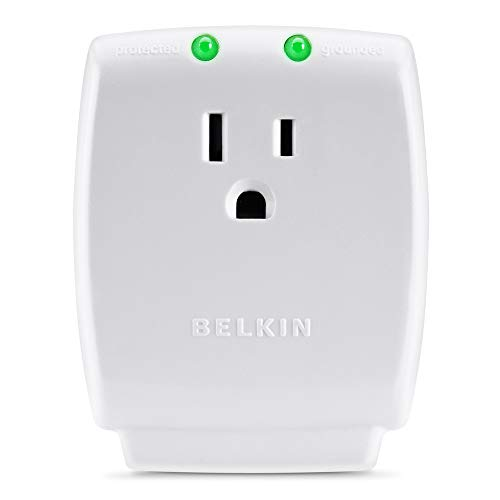 Belkin Single Outlet SurgeCube Surge Protector, 1080 Joules (F9H100-CW)