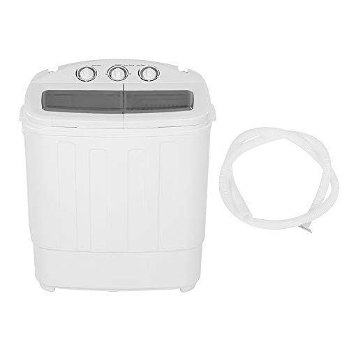 Yosooo Mini Portable Washers Twin Tub, Fully-Automatic Clothes Washing Machine Laundry Washer Spinner 110V US Plug for Camping, Apartments, Dorms, College Rooms, RV's, Delicates and More