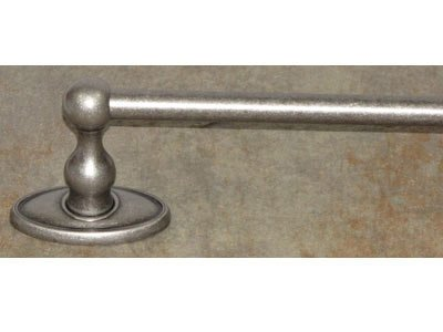 - Top Knobs ED8APC Bath Edwardian Collection 24 Inch Single Towel Bar with Oval Backplate, Antique Pewter Finish